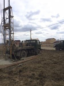 Бурение скважины Тосненский район, поселок Нурма, глубина скважины 42м,  статический уровень 15м, дебит 1,5 м3час